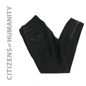 NWOT Citizens of Humanity Black Ankle Zipper Jeans